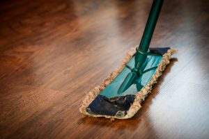 post construction cleaning with a mop